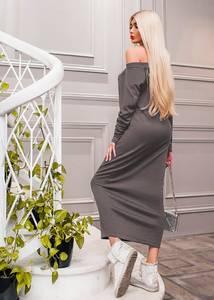 Платье длинное однотонное Ю9030