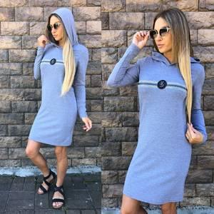Платье короткое с длинным рукавом современное У1015