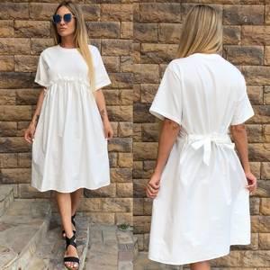 Платье короткое однотонное белое У0792