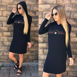 Платье короткое повседневное с принтом У0786