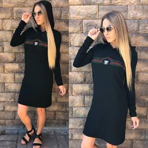 Платье короткое с длинным рукавом современное У1011