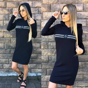 Платье короткое с длинным рукавом современное У1013