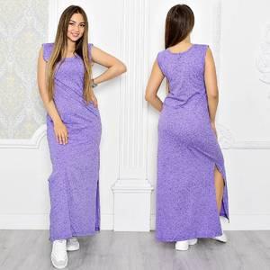 Платье длинное летнее с разрезом на ноге Т1313