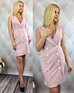Платье короткое однотонное элегантное Т7888