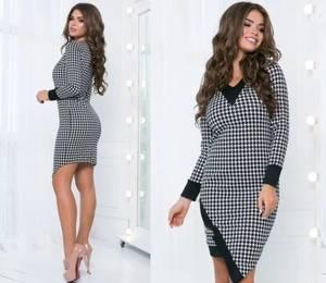 Платье короткое облегающее А15844