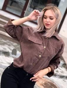 Рубашка однотонная А05283