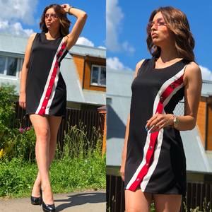 Платье короткое без рукавов летнее Т6874