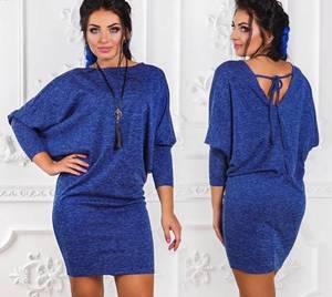 Платье короткое трикотажное однотонное У9512
