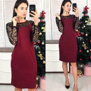 Платье короткое нарядное однотонное Ф8488