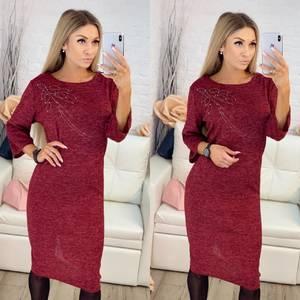 Платье короткое нарядное красное Х0627