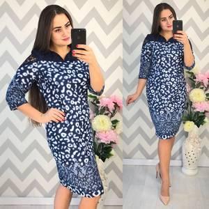 Платье короткое нарядное с принтом Ф4341
