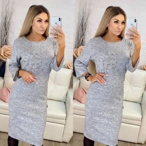 Платье короткое нарядное однотонное Х0630
