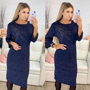 Платье короткое нарядное однотонное Х0631