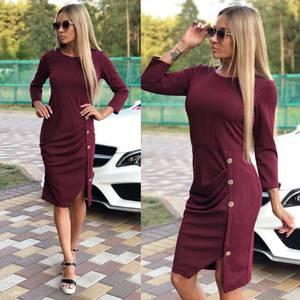Платье короткое однотонное облегающее У9923