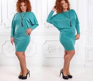 Платье короткое трикотажное однотонное У9514