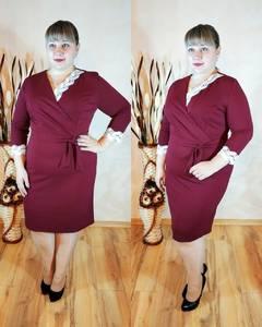 Платье короткое нарядное однотонное Ф1130