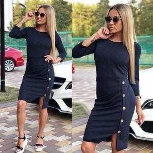 Платье короткое однотонное облегающее У9924
