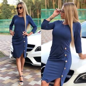 Платье короткое однотонное современное У9925