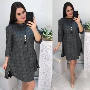 Платье короткое с рукавом 3/4 современное Х8582