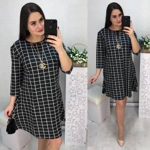 Платье короткое с рукавом 3/4 современное Х8583