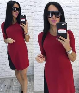 Платье короткое элегантное красное У9695