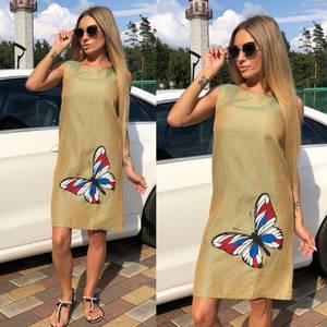 Платье короткое без рукавов У9524