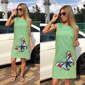 Платье без рукавов короткое У9528