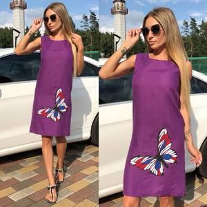 Платье без рукавов короткое У9530