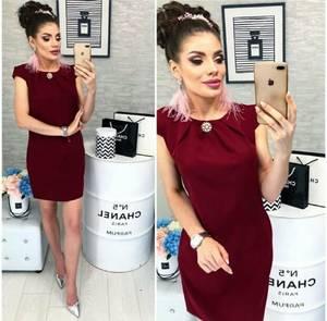 Платье короткое нарядное классическое Х6310