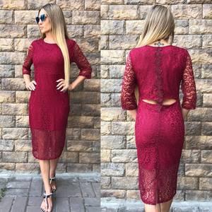 Платье короткое вечернее красное У8802