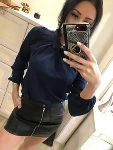 Блуза синяя Х1595
