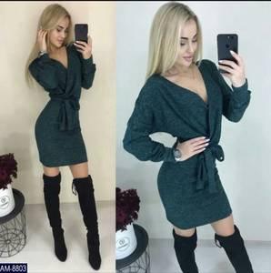 Платье короткое с длинным рукавом Ш2397