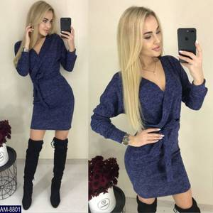 Платье короткое с длинным рукавом Ш2399