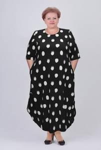 Платье длинное с коротким рукавом А03754