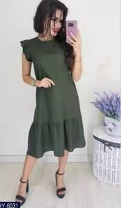 Платье короткое однотонное Ч4285