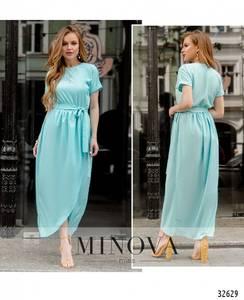Платье длинное однотонное Ч2622
