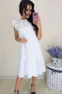 Платье короткое однотонное Ч4286