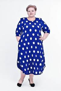 Платье длинное с коротким рукавом А03756