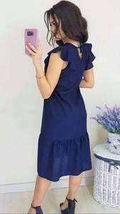 Платье короткое однотонное Ч4287