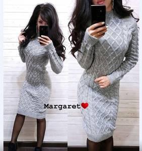 Платье короткое с длинным рукавом А54755