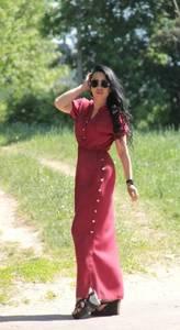 Платье длинное летнее А44436