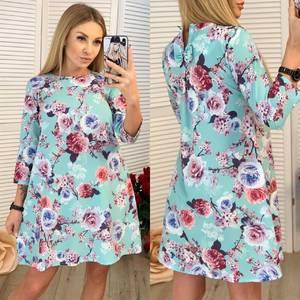 Платье короткое с принтом Ч0153