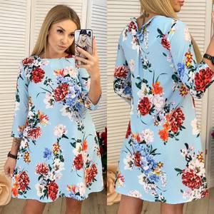 Платье короткое с принтом Ч0154