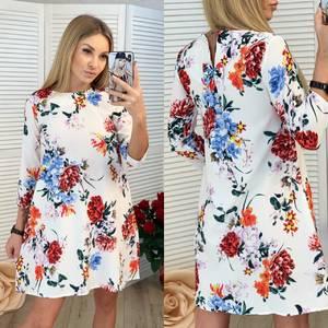 Платье короткое с принтом Ч0155