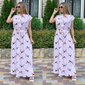 Платье длинное с принтом Ш1165