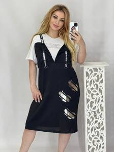 Платье короткое летнее А49085