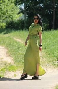 Платье длинное летнее А44437