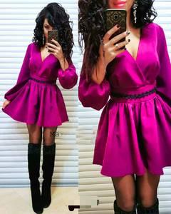 Платье короткое с длинным рукавом Ч0055