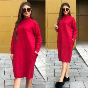 Платье короткое однотонное Ч8394