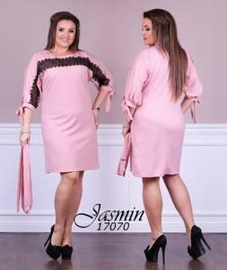 Платье короткое с кружевом Ч0074
